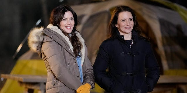 Kristy Katzmann, left, and host Kristin Davis in an episode of 'Labor of Love.'