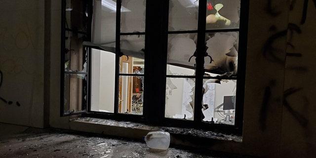 Damage after riots on Saturday in Nashville, Tenn.