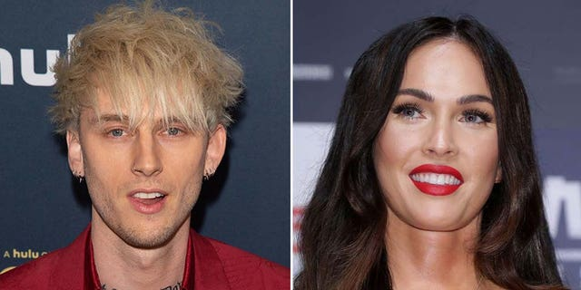 Machine Gun Kelly (left) and Megan Fox are now dating after the actress' split from husband Brian Austin Green.