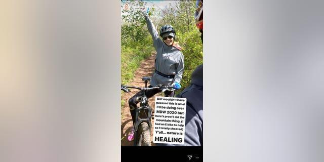 Meghan King Edmonds spent time mountain biking over Memorial Day Weekend.