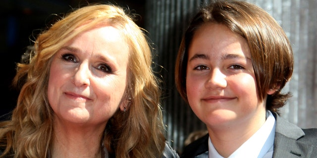 Melissa Etheridge with son Beckett in 2011.