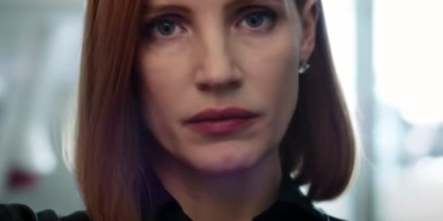 Jessica Chastain in a scene from 'Miss Sloane.'