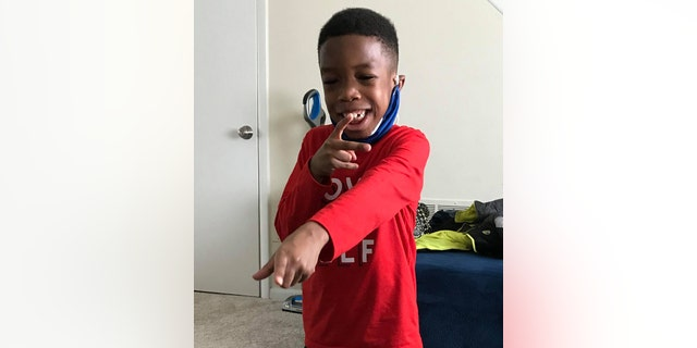 Nasir Striggs, 7, who has sickle cell anemia, is home from the hospital after recovering from the coronavirus. (Courtesy: Deshannon Striggs)