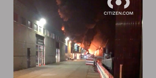 The fire was reported at about 4:30 a.m. at Pier 45 near Fisherman's Wharf.