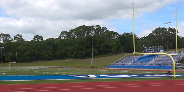 With the spring football season canceled, the stadium at Mount Dora Christian Academy sits empty (Robert Sherman, Fox News)