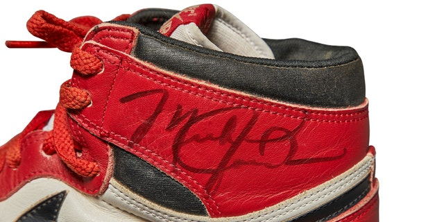 Michael Jordan game-worn shoes set record at Sotheby's auction