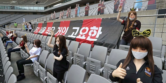 FC Seoul was fined for the use of sex dolls in the stands. (Ryu Young-suk/Yonhap via AP)