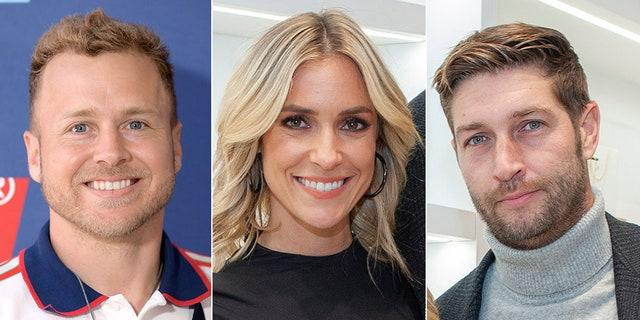 'The Hills' star Spencer Pratt, left, said he believes former co-star Kristin Cavallari, center, is 'going to be better off' without estranged husband, ex-NFL gunslinger Jay Cutler, right.