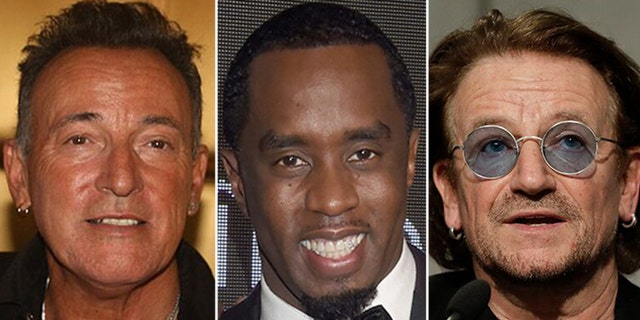 Bruce Springsteen, Diddy and U2's business deals are at risk of being leaked by a group of hackers.