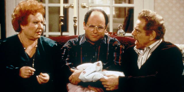 Estelle Harris as Estelle Costanza, Jason Alexander as George Costanza and Jerry Stiller as Frank Costanza in 'Seinfeld.'