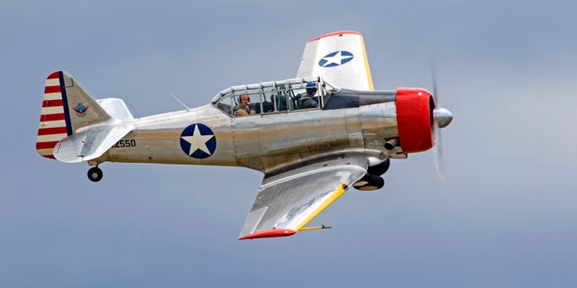 SNJ T-6 Texan airplanes, like this one in California, were used in Swanson's flyover. (iStock)