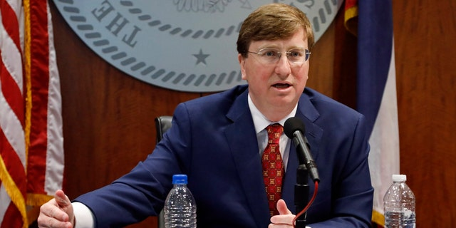 Gov. Tate Reeves on May 20, days after he was duped during the Facebook Live graduation read-out