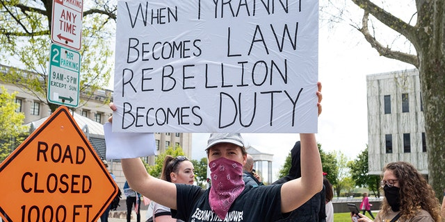 Protests have broken out in states like New Jersey that have yet to give residents a clear date as to when most of its economy will reopen. (Barcroft Media via Getty Images)