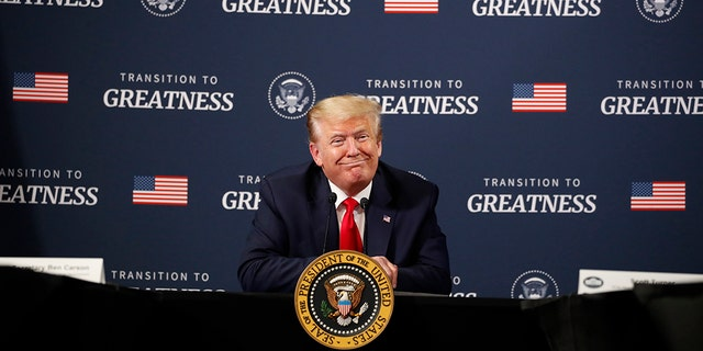 President Donald Trump speaks during a listening session with African-American leaders at Ford's Rawsonville Components Plant that has been converted to making personal protection and medical equipment, May 21, in Ypsilanti, Mich. (AP Photo/Alex Brandon)