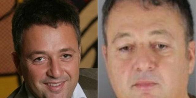 University of Minnesota Law School professor Francesco Parisi in his professional photo left and mugshot right