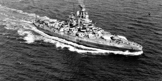 Latest World News Official U.S. Navy photograph of the USS Nevada (BB-36), now in the collections of the National Archives.