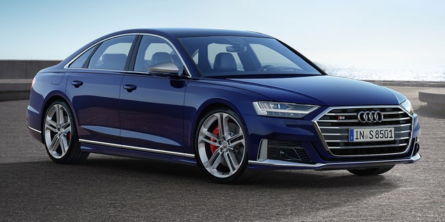 The $130,000 S8 has an electronically restricted top speed of 155 mph.