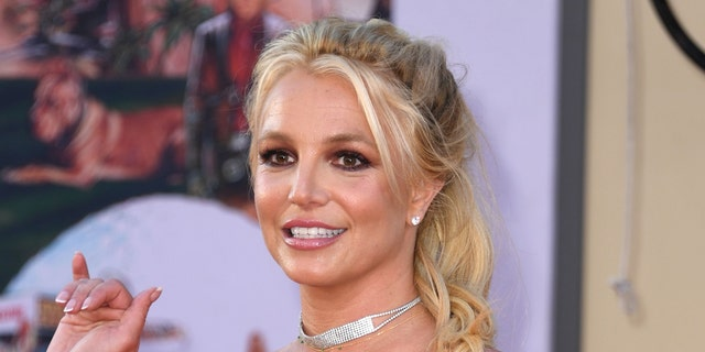 Britney Spears arrives for the premiere of Sony Pictures' 'Once Upon a Time... in Hollywood' at the TCL Chinese Theatre in Hollywood, Calif., on July 22, 2019.