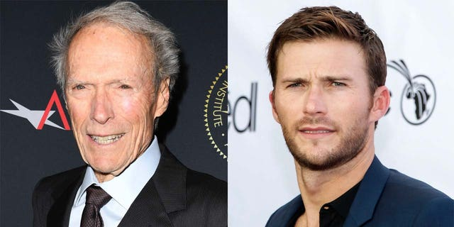 Clint Eastwood (L) and son Scott Eastwood (R).