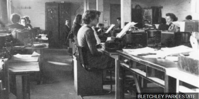 """Image caption The messages give us insight into """"the real people behind the machinery of war"""", says GCHQ's historian"""