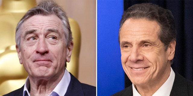 Robert De Niro said New York Governor Andrew Cuomo is '