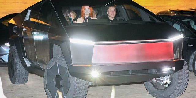 Musk and Grimes were spotted taking the Tesla Cybertruck prototype for a night out in Malibu last December.