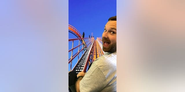 One of the activities Jen set up for husband Chris was a virtual roller coaster ride.