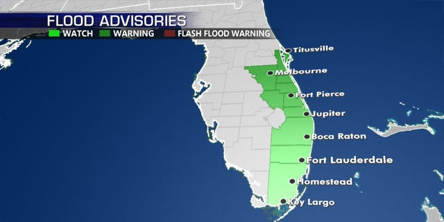 Flood watches have been posted along Florida's East Coast due a tropical disturbance.