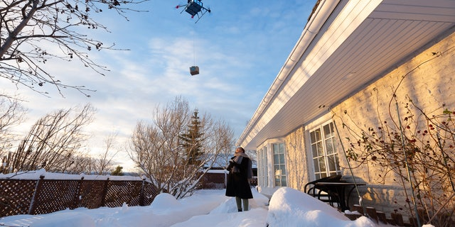 Backyard drone delivery.