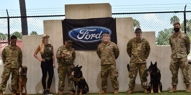Ford Motor company distributed face shields to bases around America and overseas. (Ford Motor Co. photo)