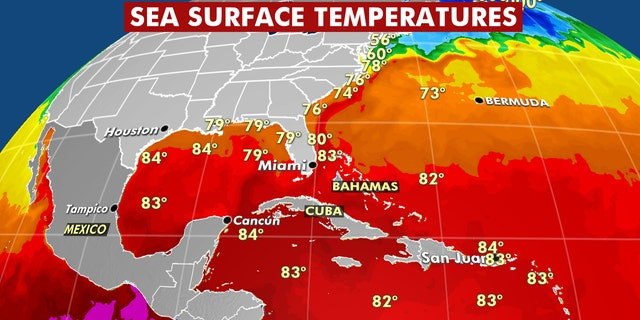 Warmer than average sea surface temperatures are expected to lead to an active Atlantic hurricane season in 2020.