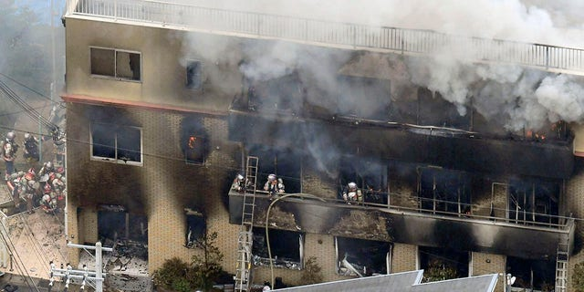 Westlake Legal Group kyoto-anime-studio-fire2 Japanese man arrested in Kyoto anime arson after 10 months hospitalized with injuries Stephen Sorace fox-news/world/world-regions/japan fox-news/world/disasters/fires fox-news/world/crime fox news fnc/world fnc article 2ef20016-d7b9-52b5-8146-c3ce17e38615