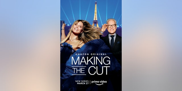 Heidi Klum (L) and Tim Gunn (R) on a poster for 'Making the Cut.'