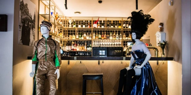 Restaurants in Vilnius, Lithuania's capital, have started to use mannequins in eateries as they reopen.