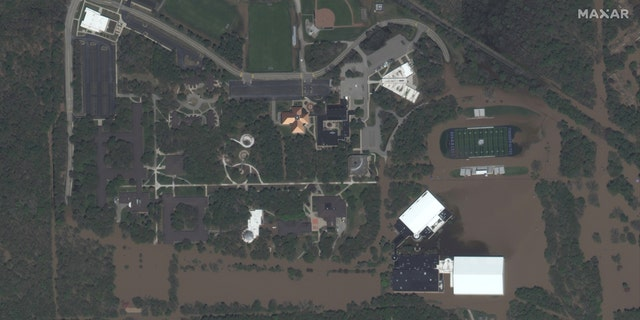 Northwood University's campus impacted by floodwaters on May 20.