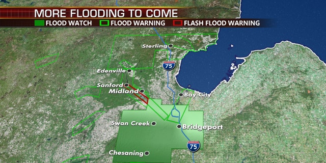 Flash flood emergencies continue Wednesday in Michigan due to flooding after two dams burst.