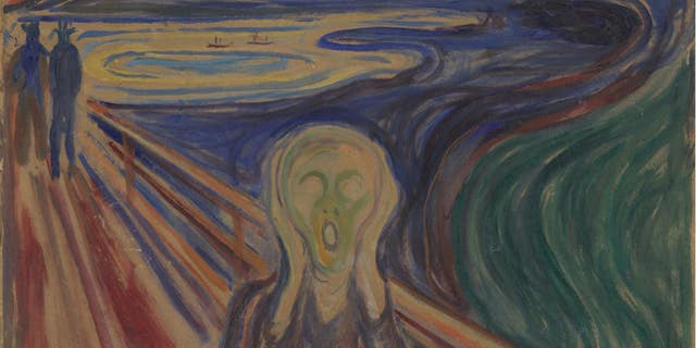 Moisture is the main reason is the vivid yellow paint to Edvard Munch's 1910 version of