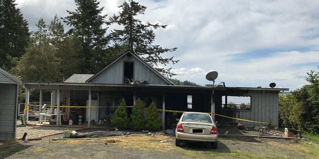 Investigators said evidence of homicide and arson were found inside the home after the fire was put out.