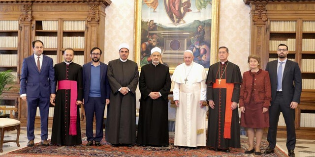 Westlake Legal Group pope-francis-Committee-of-Human-Fraternity-2-AP Pope's words on interfaith prayer against coronavirus sparks controversy among Catholics fox-news/world/religion/islam fox-news/world/religion/christianity fox-news/world/religion fox-news/us/religion/roman-catholic fox-news/person/pope-francis fox-news/health/infectious-disease/coronavirus fox news fnc/world fnc f2095dd4-7c0a-5224-bb34-e2372cebcfab Caleb Parke article