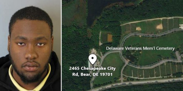 Delaware police released a photo of Sheldon Francis, 29, of Middletown, Del., after a shooting at the Delaware Veterans Memorial Cemetery in Bear left in which an elderly couple was shot and died.
