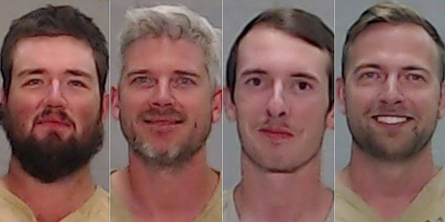 Wyatt Winn, 23, Jesse Semrad, 36, Carlo O'Brien, 20, and Joshua Watt, 31.(Ector County Sheriffs Office)