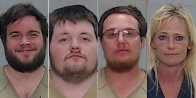 Anthony Elden, 24, and Brandon Burney 21, Trinity Jackson, 31, and Gabrielle Ellison, 47. (Ector County Sheriffs Office)