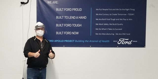 Terry Bowman at the Ford Rawsonville plant in Michigan.