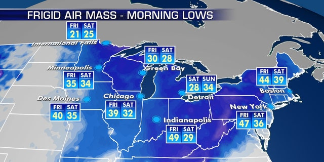 Bitter cold temperatures are forecast for Mother's Day weekend.