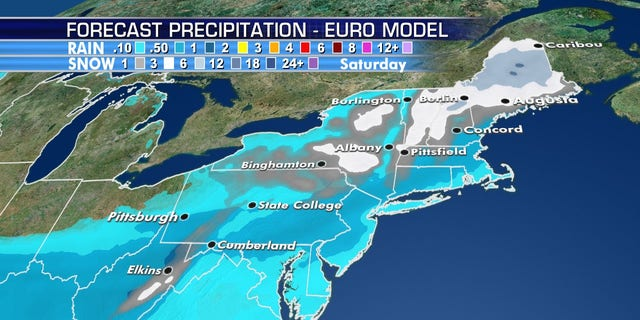 The interior Northeast may see a historic May snowstorm as the polar vortex ushers in bitterly cold Arctic air.