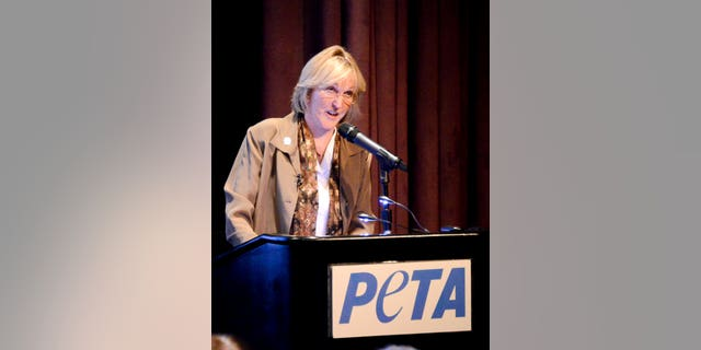 PETA president Ingrid E. Newkirk, seen here speaking at a previous event, has vowed to close down the聽Greater Wynnewood Exotic Animal Park.