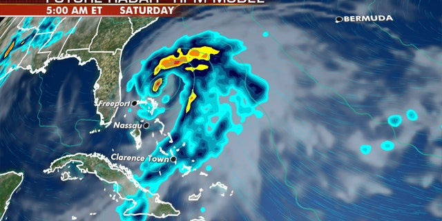 The system may bring heavy rain to parts of Florida and the Bahamas by the weekend.