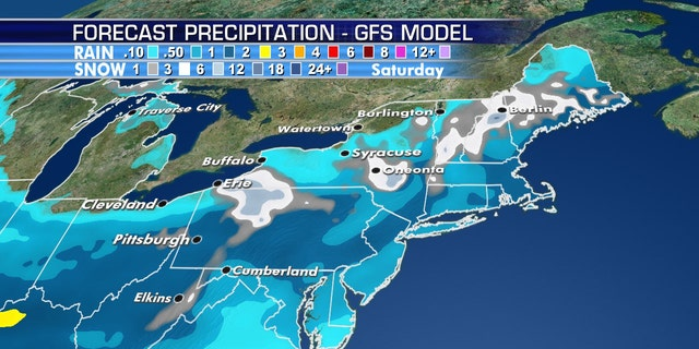 Several rounds of snow are forecast to impact the Northeast through Mother's Day Weekend.