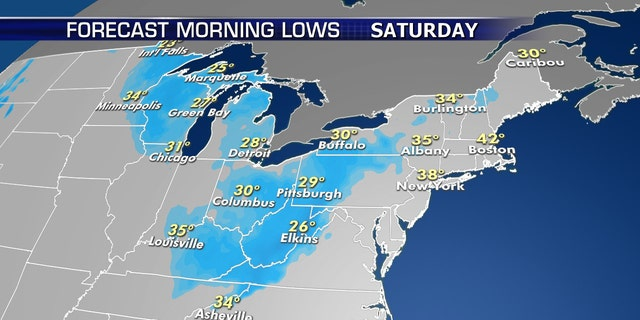 Record low temperatures are possible by Saturday as Arctic air surges into the Midwest and Northeast.
