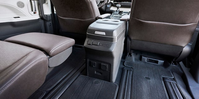 The Sienna is available with legrest-equipped second-row reclining seats.